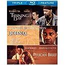 Denzel Washington Triple Feature (The Pelican Brief / Training Day / John Q) [Blu-ray]