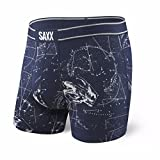 Saxx Underwear Men's Vibe Boxer Modern Fit Celestial Spaceman Large