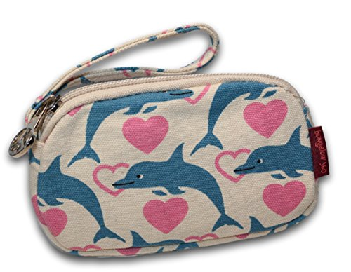Dolphin Purse - Bungalow 360 Canvas Clutch Coin Purse (Dolphin)