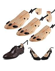 Shoe Stretcher, Kuaguoyi Men Women Adjustable 2-Way Support Wood Shoe Trees Storage Shoes Keepers Holder Stretcher Expander Shaper Size 5-6.5