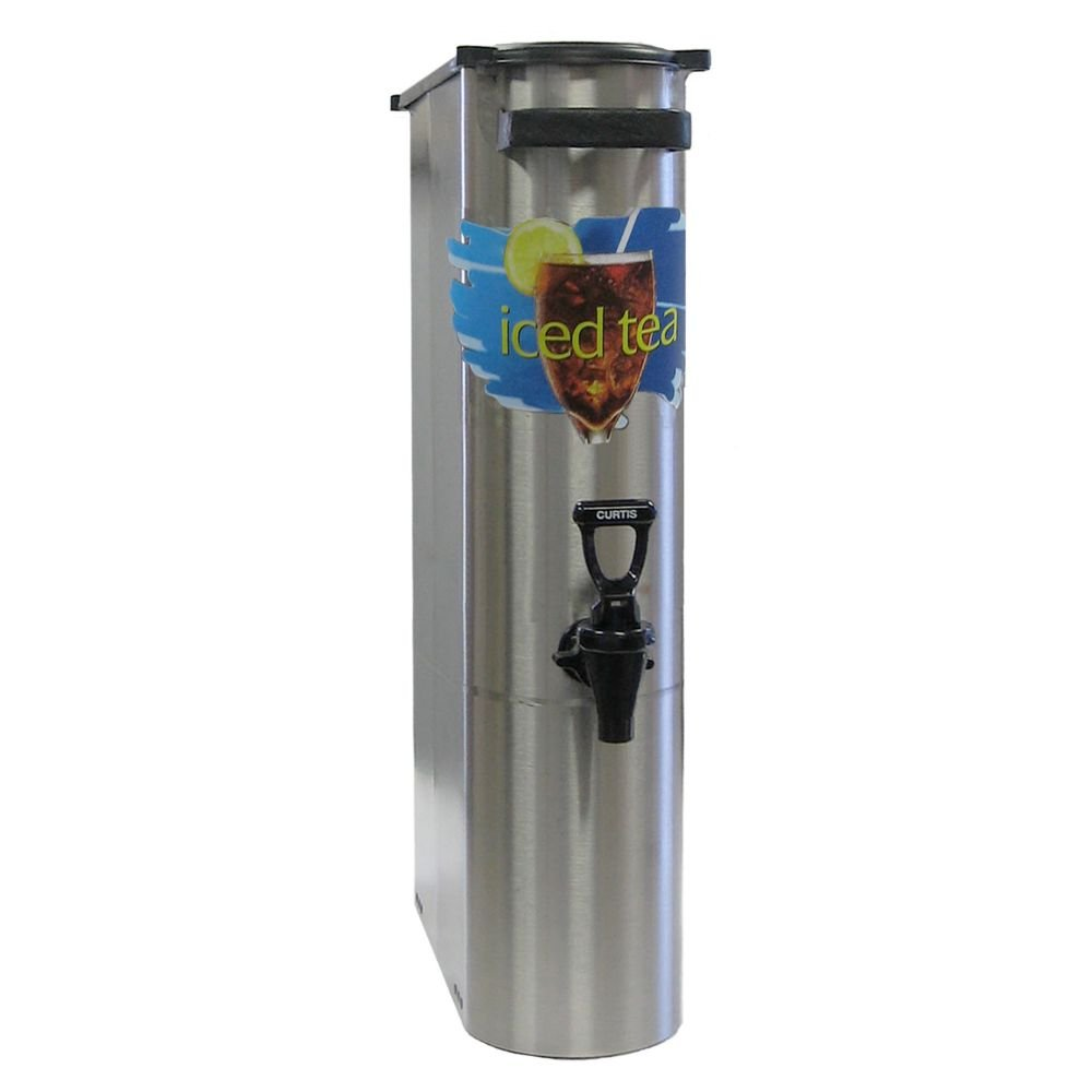 "Wilbur Curtis Iced Tea Dispenser 3.5 Gallon Narrow Tea Dispenser, 22""H - Designed to Preserve Flavor  - TCN (Each)"