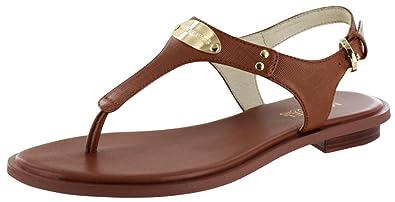 0f5953d51a57 Michael Michael Kors Women s MK Plate Thong Luggage Sandal
