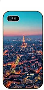 For Iphone 5/5S Case Cover Eiffel Tower and city view - black plastic case / Paris, France