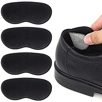Dr. Foot's Heel Grips for Men and Women, Self-Adhesive Heel Cushion Inserts Prevent Heel Slipping, Rubbing, Blisters, Foot Pain, and Improve Shoe Fit (Black)