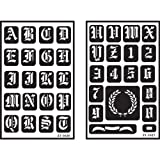 Over'n'over Reusable Stencils 5''x8'' 2/pkg-Old English Alphabet