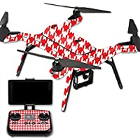 Skin For 3DR Solo Drone – Red Houndstooth | MightySkins Protective, Durable, and Unique Vinyl Decal wrap cover | Easy To Apply, Remove, and Change Styles | Made in the USA
