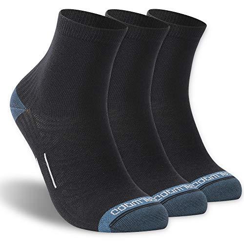 (Running Socks, ZEALWOOD 3 Pairs Crew Socks, Hiking Socks for Winter, Men, Women,)