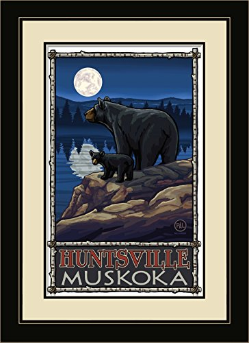 Northwest Art Mall Huntsville Muskoka Bear Lake Moon Hills Framed Wall Art by Paul A. Lanquist, 13 by - Mall Huntsville