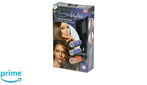 Velform Supreme Styler - Cepillo Electrico ionico, color negro: Amazon.es: Salud y cuidado personal