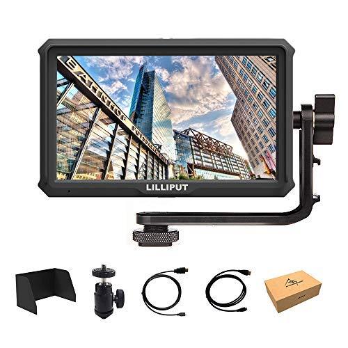 Lilliput A5 5 inch 1920x1080 HD 441ppi IPS DSLR Screen Camera Field Monitor 4K HDMI Input Output Compatible with Canon Nikon A7 A7S III A9 Panasonic GH5 GH5s Zhiyun Crane 2 M TILTA G2X DJI Ronin-S by Lilliput