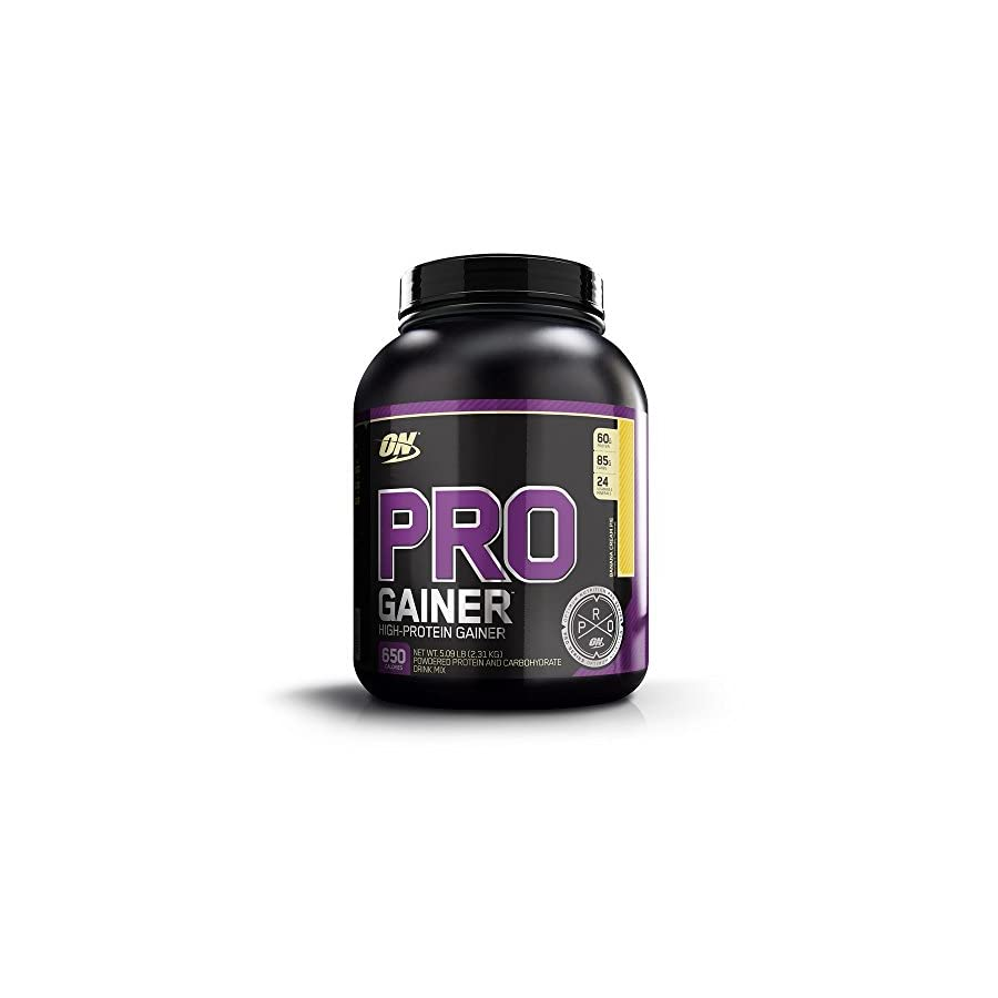 OPTIMUM NUTRITION Pro Gainer Weight Gainer Protein Powder, Banana Cream Pie, 5.09 Pounds (Packaging May Vary)