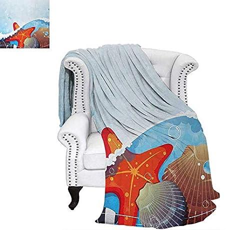 Amazon.com: Manta de felpa de terciopelo, colorida, dibujada ...