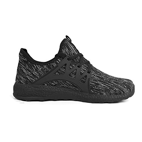 Feetmat Womens Sneakers Ultra Lightweight Breathable Mesh Athletic Running Shoes Plus Size 13 Grey/Black