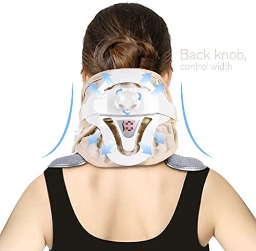 P PURNEAT Cervical Neck Traction Device - Neck Massager & Collar & Brace - Neck & Shoulder Pain Relief - Neck Brace Collar for Travel/Home Improved Spine Alignment.