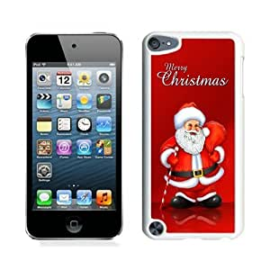 ayuw diy 2014 Newest Santa Claus White iPod Touch 5 Case 18