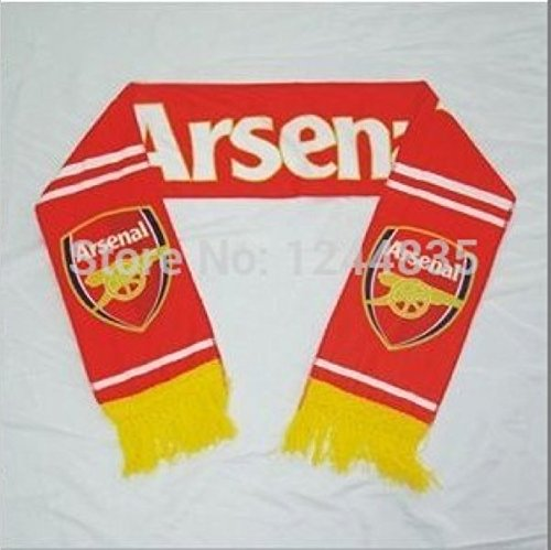 Arsenal FC - Fan Wear Premium Poyester Scarf Light Weight AFC Gooners Gunners (Arsenal Fan compare prices)