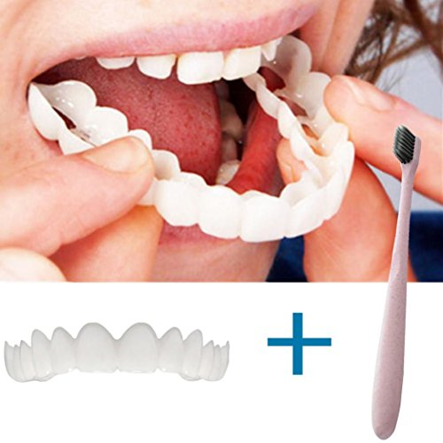 (Temporary Smile Comfort Fit Cosmetic Teeth, Vovomay Denture Teeth Top Cosmetic,Fit at Home Do it Yourself Smile Makeover!)