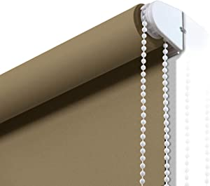 Window Roller Shades Blackout, 100% Blackout Waterproof Fabric Roller Shades for Windows Quick Installation