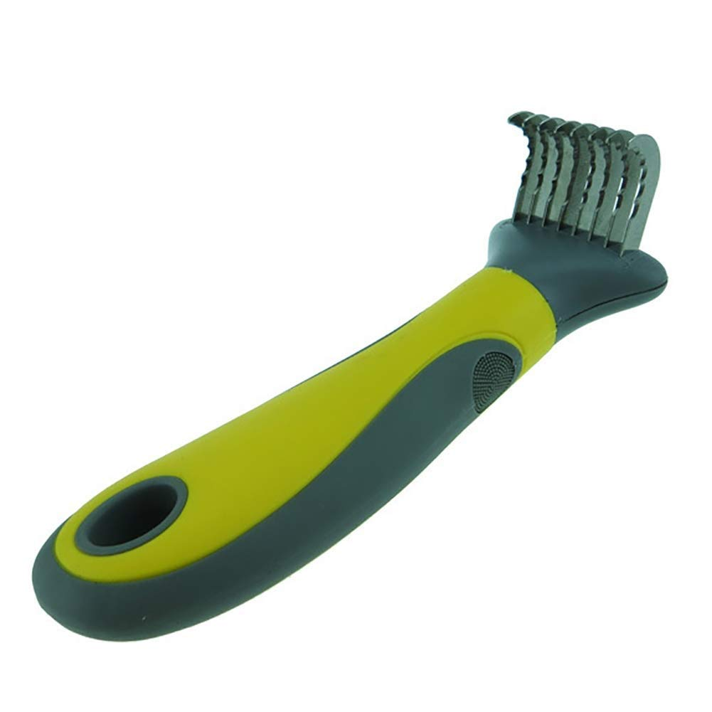 BeiMi Professional Grooming Tools for Cats and Dogs, Dog Combs, Dog Grooming Tools, Dog Brushes for Beauty, Pet Grooming Quality Stainless Steel Edges with Evenly Distributed Teeth (Color : Yellow)