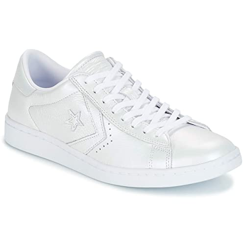 0bf428581fc Converse PRO Leather LP OX Trainers Women White Silver - 3 - Low top  Trainers