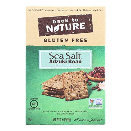 Back To Nature Crackers - Adzuki Bean and Sea Salt - Case of 12 - 3.5 oz. ()