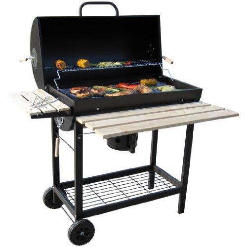 BBQ Grillwagen mit Deckel Smoker Holzkohlegrill