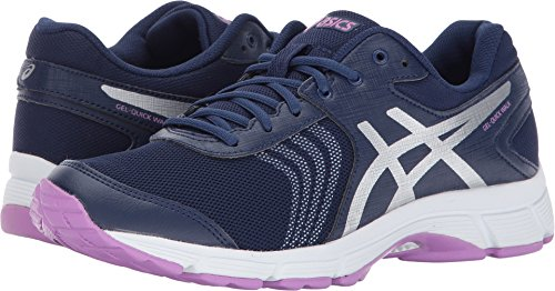 ASICS Womens Gel-Quickwalk 3 Walking Shoe, Indigo Blue/Silver/Violet, 7 Medium US