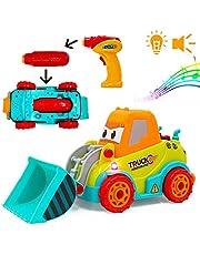 deAO RC Camión de Construcción Radio Control 2en1 para Montar y Desmontar Vehículo Puzle Incluye Taladro Eléctrico Kit de Montaje