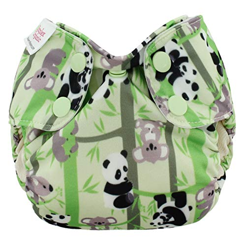 Blueberry Organic Newborn Simplex All in One Cloth Diapers, Made in USA (Pandas)