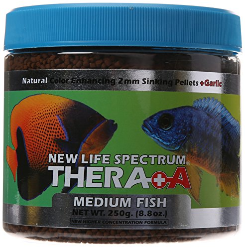 New Life Spectrum Thera-A Medium 2mm Sinking Salt/Freshwater Pet Food, 250gm by New Life Spectrum