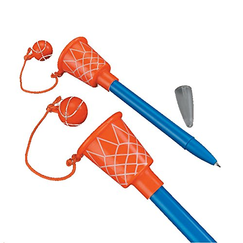 "1 Dozen - 5 1/2"" Basketball Hoop Pens - Sport-theme Birthday Party Supplies"
