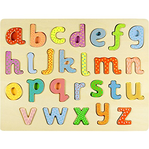 Professor Poplar's Lower-case Alphabet Wooden Jigsaw Puzzle Board by Imagination Generation