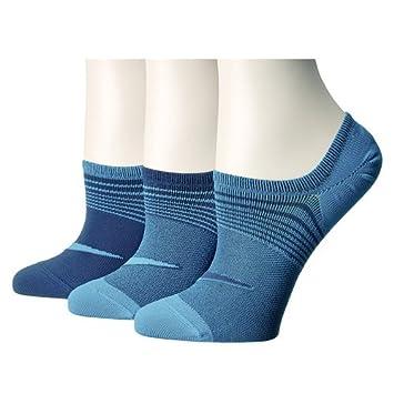 Nike W Nk Perf LTWT Foot 3Pr Calcetines, Mujer, L