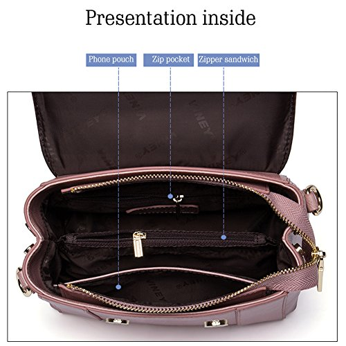 Leather Brown Women Tote Handbags Yoome Liquidation Satchel Bags Crossbody Top Genuine Bag Blue Handle Shoulder Designer x6CxwBTqI