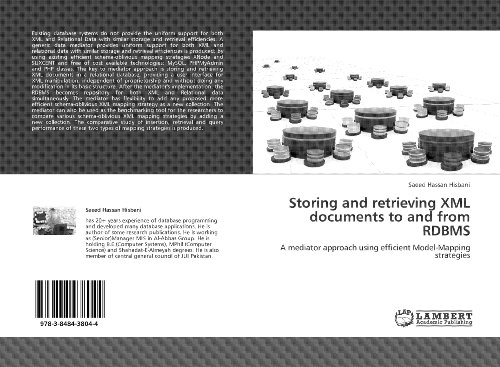 Download Storing and Retrieving XML Documents to and from RDBMS: A mediator approach Pdf