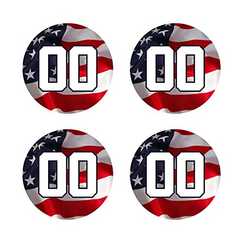 Custom Baseball Bat Decal Set - USA American Flag Design Bat Knob Sticker