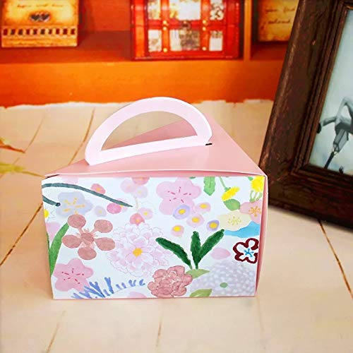 15x11x10cm 10 Pcs Paper Box Flower Srping Wedding Candy Cheese Cake Boxes Storage Christmas Birthday Party Gifts Pack