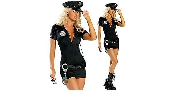 Delisouls Sexy Policía Police para Dama Disfraz, Mujer Police ...