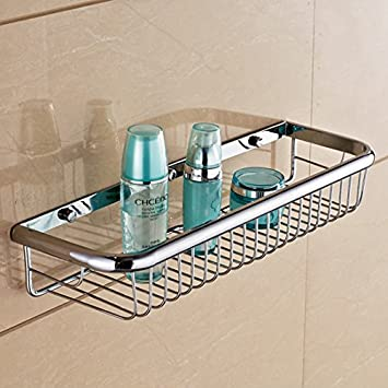 Solid Brass Products Wall Mounted Rectangle Shower Wire Basket ...