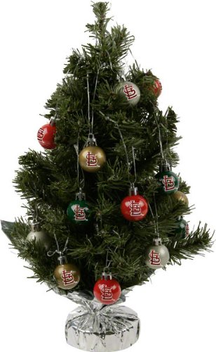 Amazon.com : St. Louis Cardinals 16 inch Tree Set: Christmas Tree ...