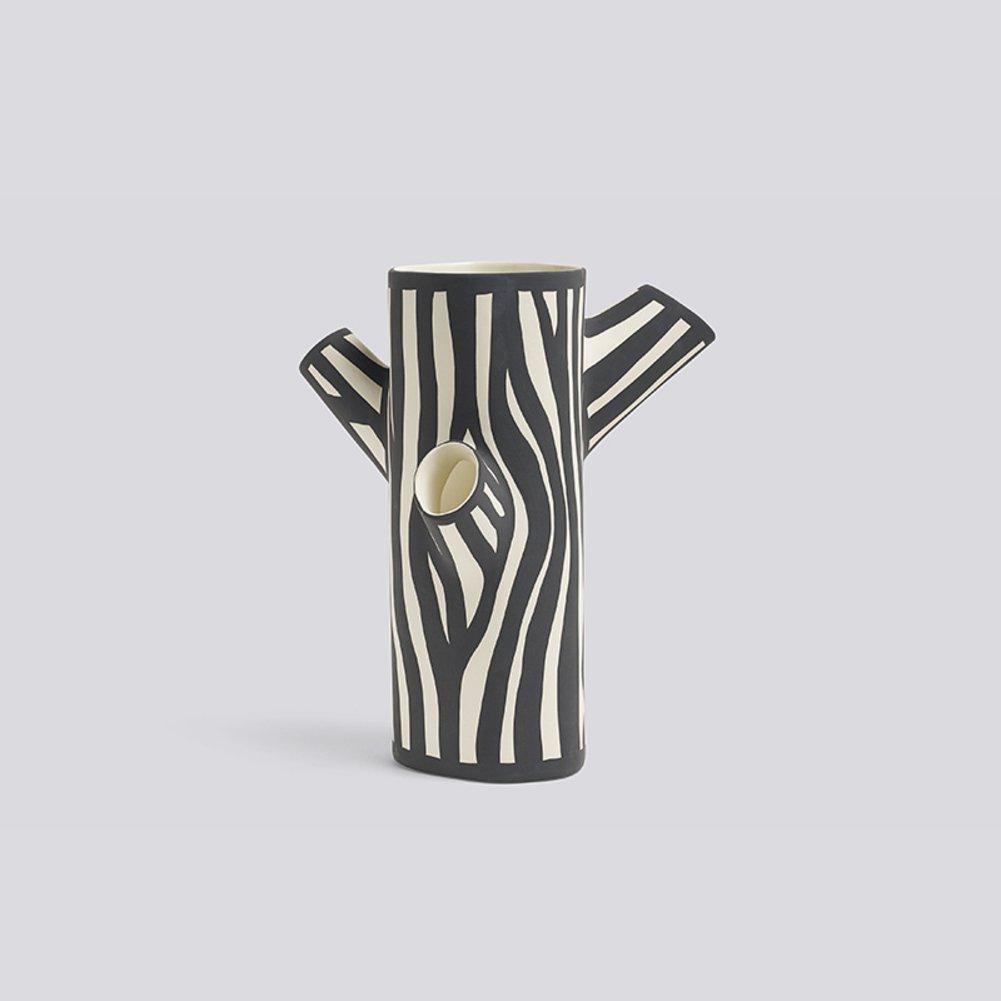 陶製の花瓶で手作り落書き,木目 マルチポート ツリー トランク花瓶-F Height-12