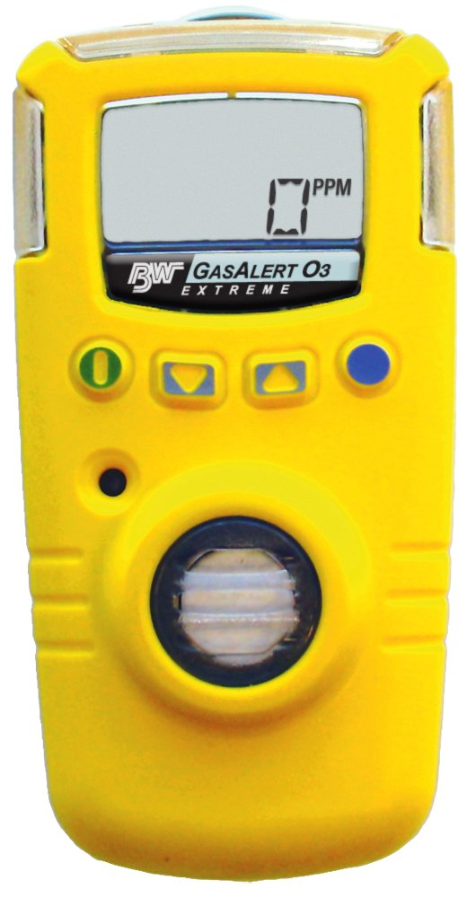 BW Technologies GAXT-G-DL GasAlert Extreme Ozone (O3) Single Gas Detector, 0-1 ppm Measuring Range, Yellow