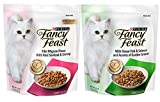Fancy Feast Purina Gourmet Cat Food (2) Flavor Variety Bundle: (1) Filet Mignon with Real Seafood & Shrimp,and (1) Ocean Fish & Salmon and Accents of Garden Greens, 16 Ounces Each