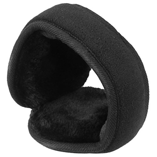 Mysuntown Ear Muffs Foldable Winter Ear Warmers Fleece Earmuffs Earlap Ear Protection Black