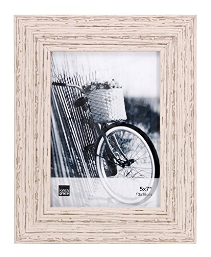 Kiera Grace Maya Picture Frame, 5  by  7 Inch , Weathered White Beachwood (Rustic Picture Frames 5x7 compare prices)