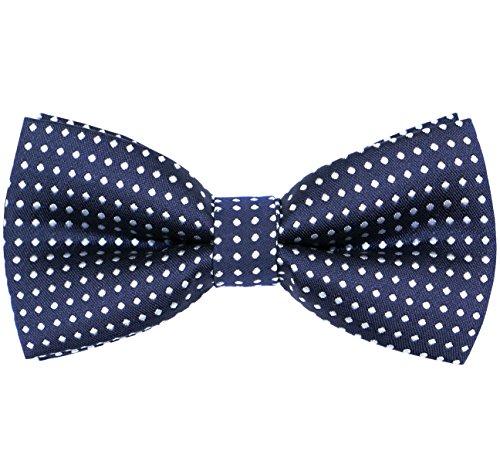 Print Boys Tie - OCIA Boys Polka Print Decoration Bow Tie Navy Blue