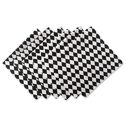 DII Cotton Print Napkin for for Dinner Parties, Weddings & Everyday Use, Set, Harlequin 6 Piece ()