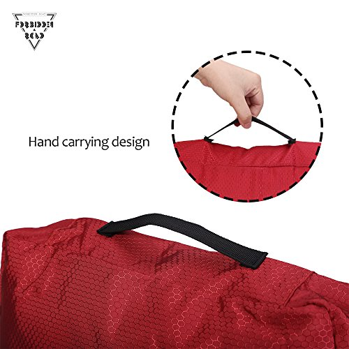 Forbidden Road Packing Cubes Travel Packing Cubes Organizers Folders Accessories Compression Cubes Pouches Portable for Cloth Underwear Bra Socks - 3 Pieces of Different Sizes (Red, 3 Pieces)