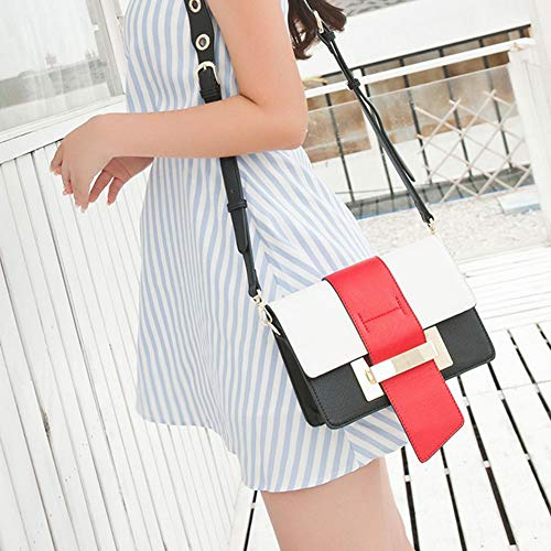 Lxf20 PU Sac Multicolor Medium main à Sac à coréen Red pour bandoulière Crossbody femme qgrXwdqF