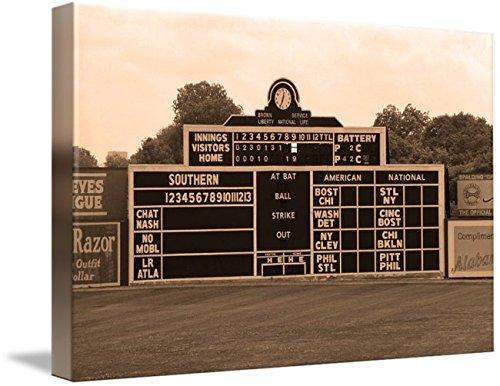 (Imagekind Wall Art Print entitled Vintage Baseball Scoreboard by Frank Romeo   10 x 7)